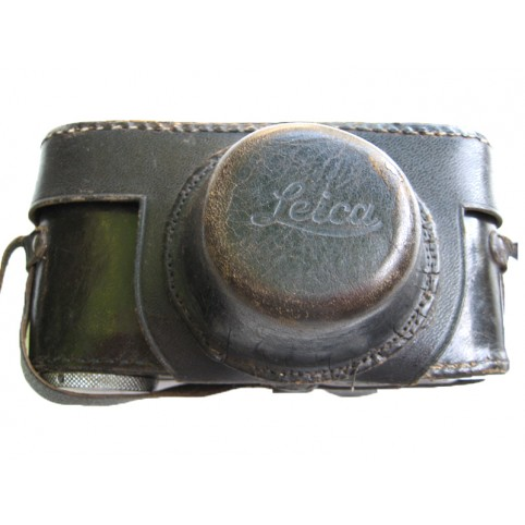 BLACK LEATHER CASE FOR Leica III